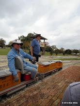 Photo: Engineer Norman Beveridge and Conducotor Bill Smith       2013-1116 RPW