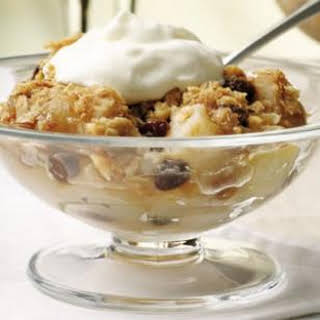 Pear Crumble.