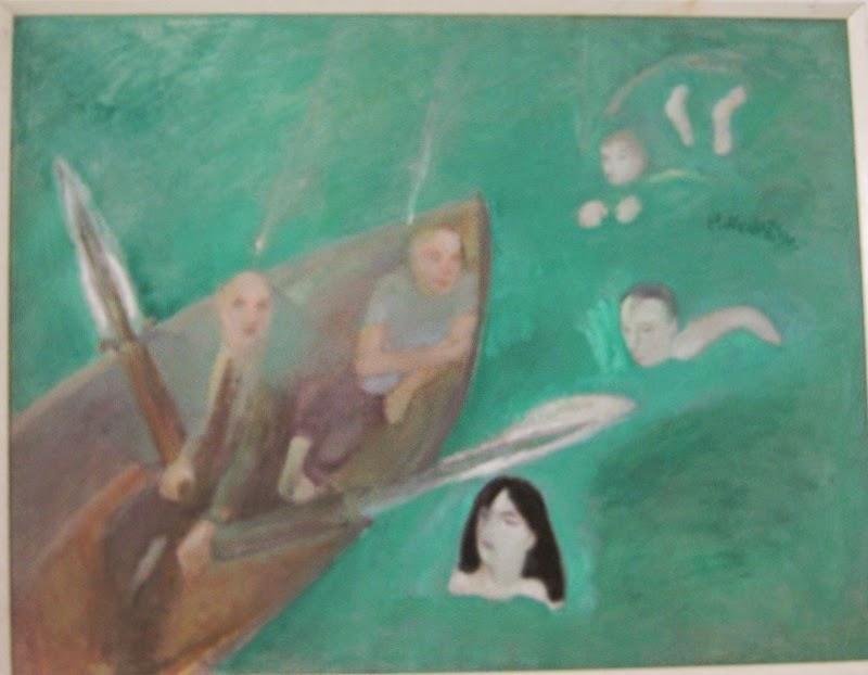 """Photo: Igaüks nagu saab"""" Peeter Mudist, 1990, õli, lõuend, Tallinna Kunstihoone Fond"""