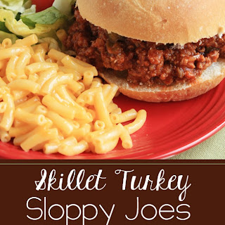 Skillet Turkey Sloppy Joes.