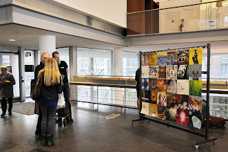 Photo: The Human Rights Flag Centre Céramique 31 March Maastricht The Netherlands: talks
