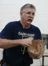 Photo: Alan provides insights into both the use of burls...