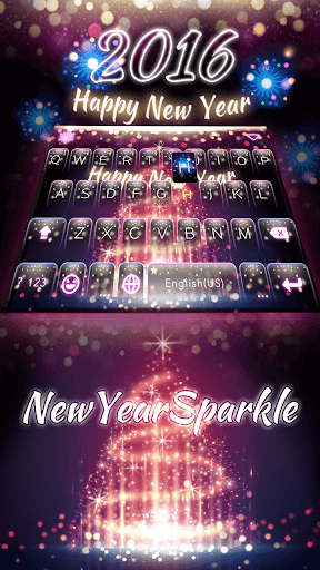 NewYear Sparkle Keyboard Theme