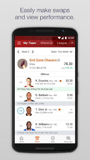 Yahoo Fantasy Sports app (apk) free download for Android/PC/Windows screenshot