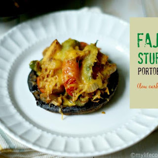 Fajita Stuffed Portobellos (Low Carb & Paleo)