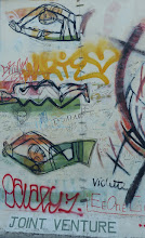 "Photo: East Side Gallery; Margaret Hunter ""Joint Venture"""