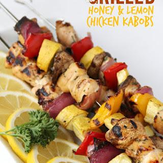 Grilled Honey & Lemon Chicken Kabobs Recipe