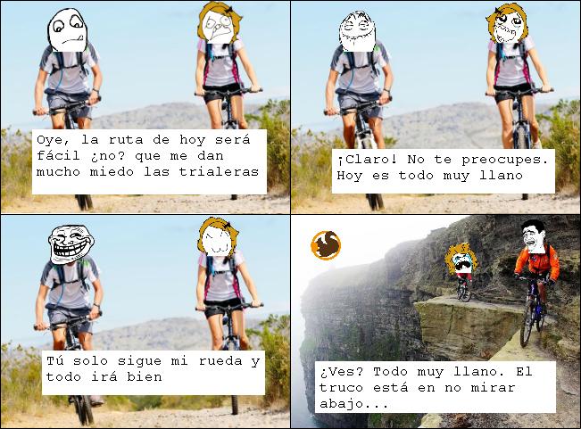 viñeta humor ciclismo