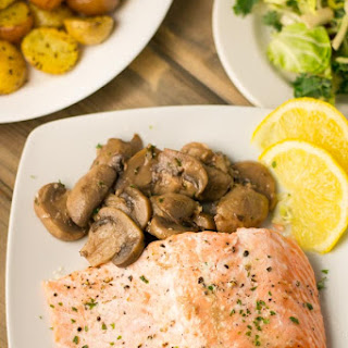 Oven Steamed Salmon with Mushrooms Recipe