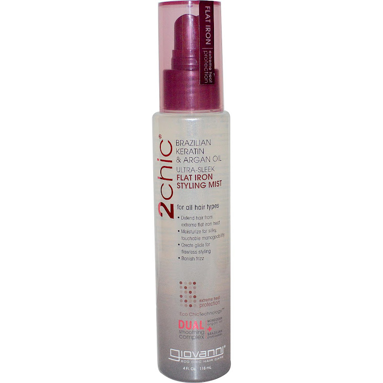 Giovanni, 2chic, Flat Iron Styling Mist, Brazilian Keratin & Argan Oil, 4 fl oz (118 ml) by Supermodels Secrets