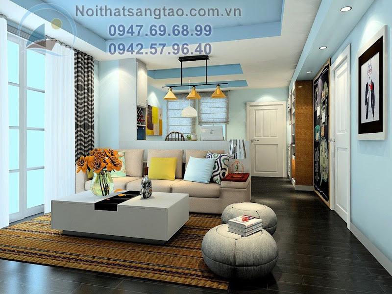 thiết kế phòng khách giá rẻ
