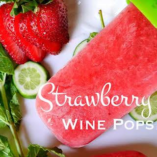 Strawberry Mojito Wine Popsicles.