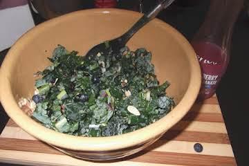 Ali's Kale-Blueberry Salad