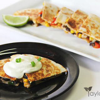 Healthy Veggie Quesadilla – Santa Fe Style