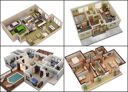 Download 3d house floor plans design for pc for Floor plan 3d house building design