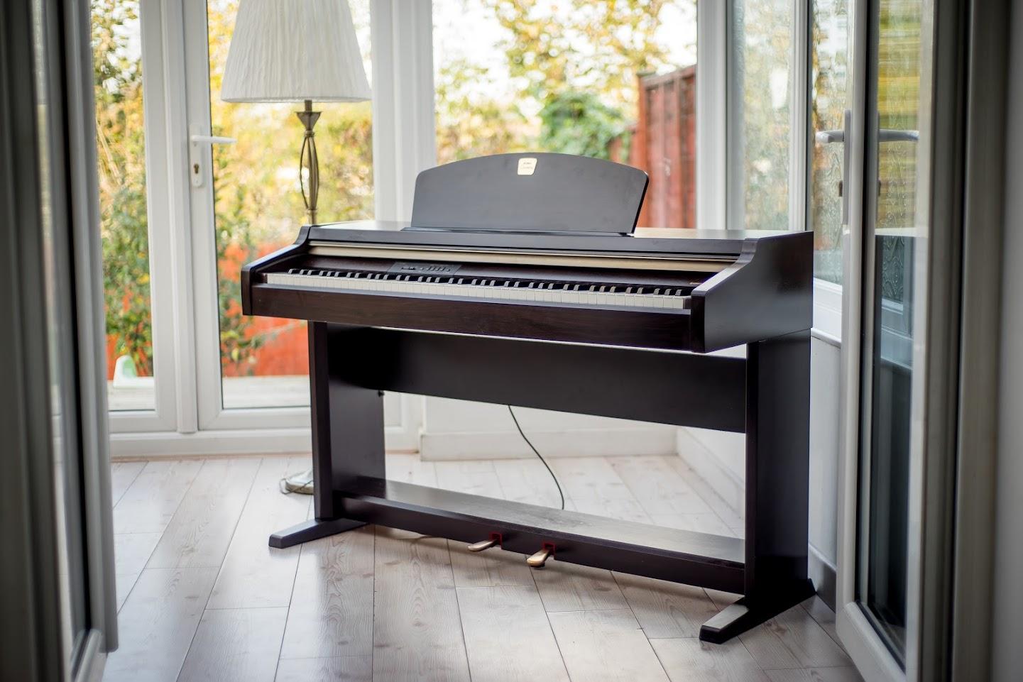 yamaha clavinova full size digital piano 88 keys notes weighted keyboard deliver ebay. Black Bedroom Furniture Sets. Home Design Ideas