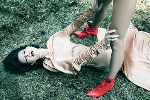 Fashion editorial featuring looks from Ellery, Jimmy Choo, Lutz Morris and Jonathan Simkhai.