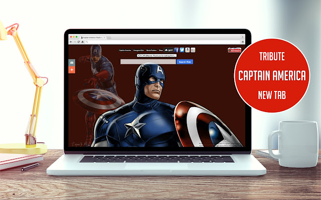 Captain America Tribute New Tab