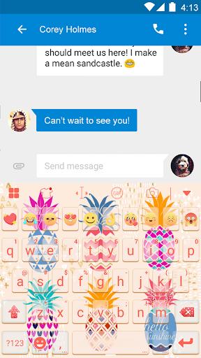 玩免費遊戲APP|下載Pineapple Eva Keyboard -DiyGif app不用錢|硬是要APP