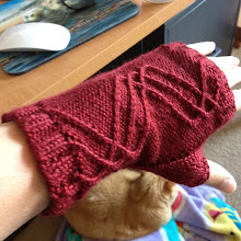 Photo: Winding Way mitts in new yarn from Knit Picks, Galileo. On Ravelry, this project has been viewed over 100 times and I haven't shared it with anyone. People just want to know about the yarn.