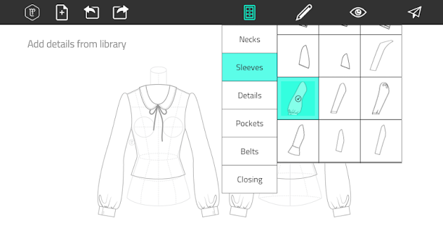 Fashion Design Flat Sketch APK screenshot thumbnail 2