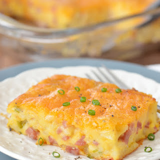Ham and Potato Breakfast Casserole.
