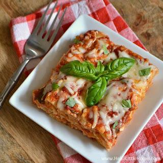 Four Cheese Tomato Basil Crock Pot Lasagna
