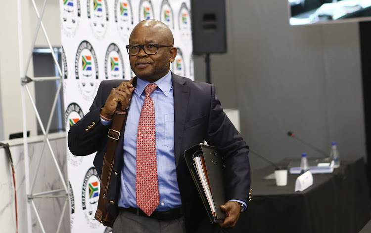 Former GCIS CEO Themba Maseko during the second day of his testimony at the state capture inquiry in Parktown, Johannesburg, on August 30, 2018.