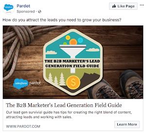 Pardot - Facebook Ad Example