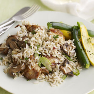 Chicken and Mushrooms with Brown Rice Recipe
