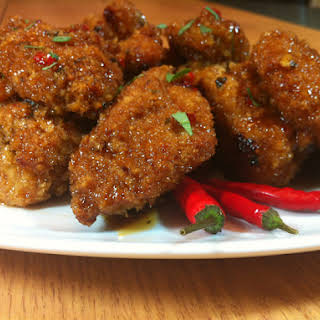 Spicy Thai Chicken Wings.