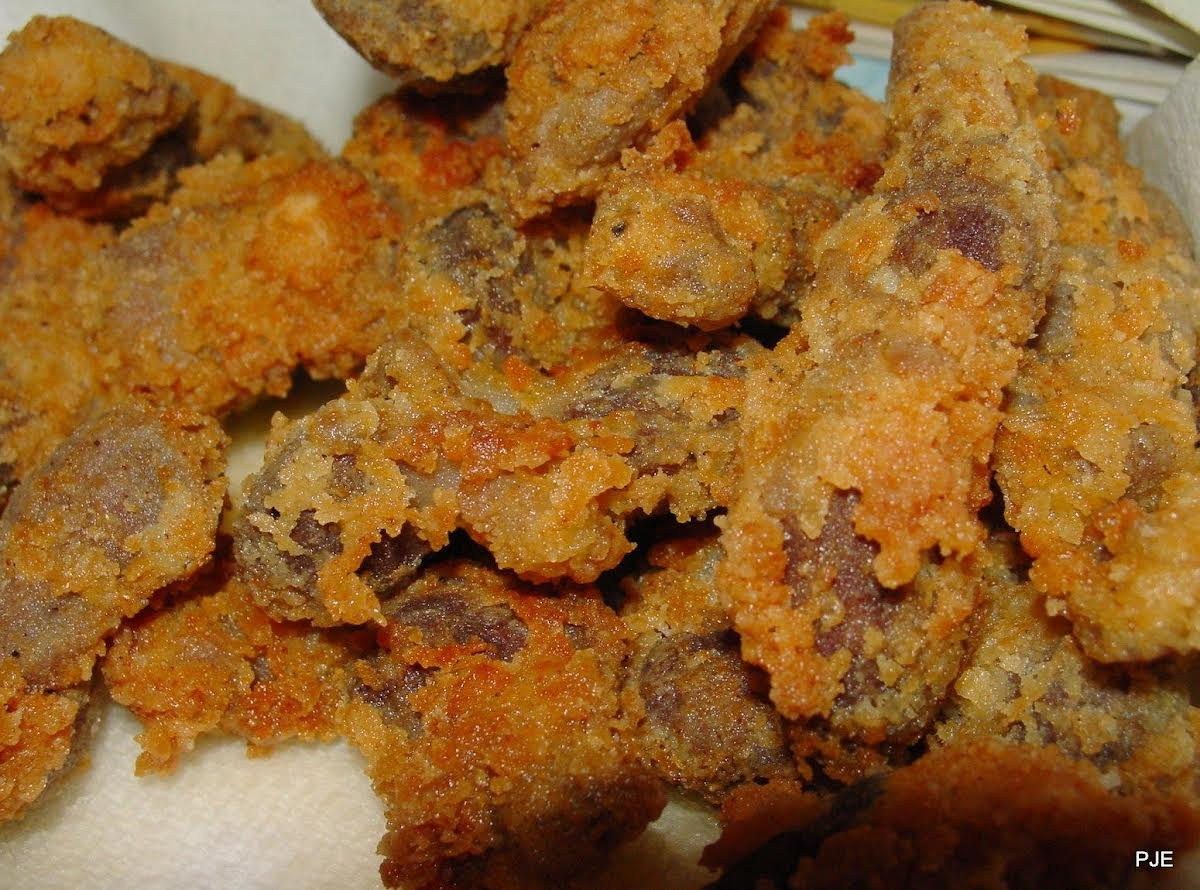 Pam S Tender Fried Chicken Gizzards Just A Pinch Recipes