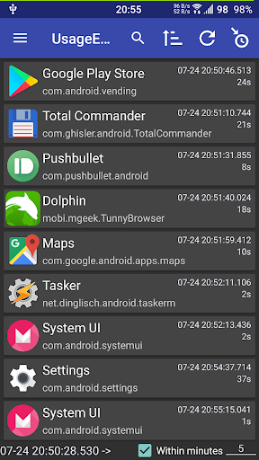 Usage History Viewer by Huybn Apps (Google Play, United States