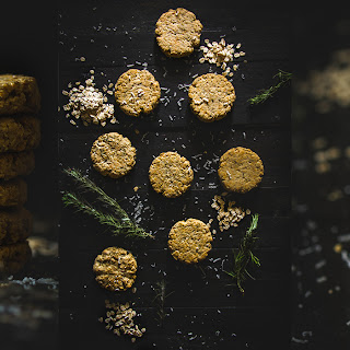 Rosemary & Parmesan Oat Biscuits