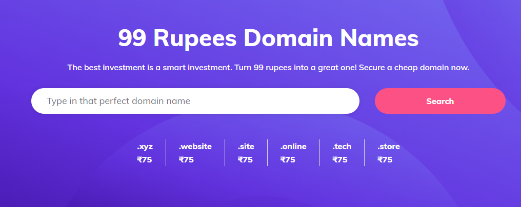 How to get 99 cent domains in India