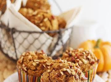 Super Soft 100% Whole Wheat Apple-Pumpkin Muffins