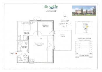 Appartement 3 pièces 59,75 m2