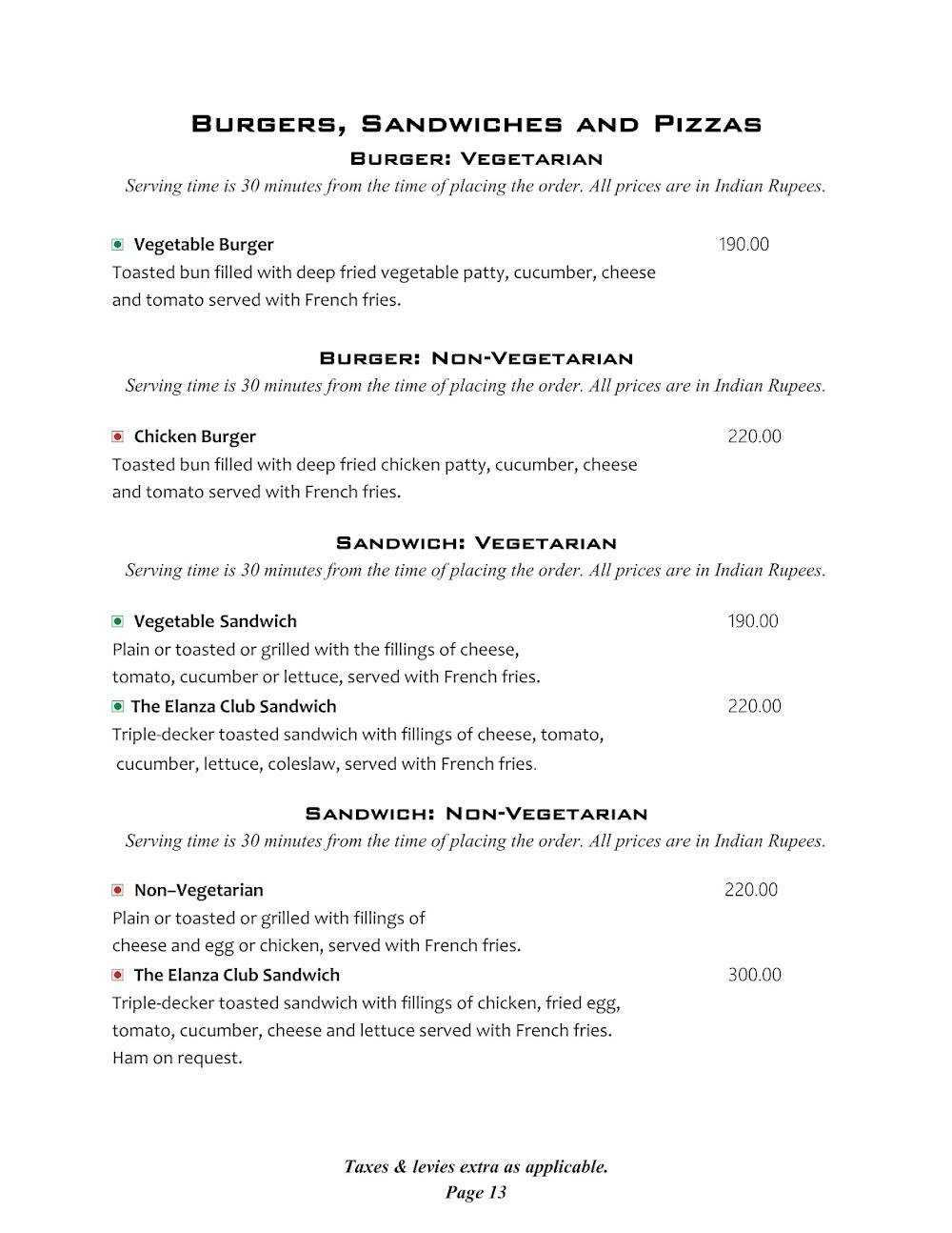 Cafe @ Elanza menu 5