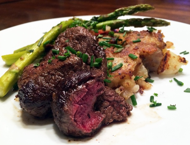 Pan Seared Elk with Rosemary Smashed Potatoes (Recipe) Recipe