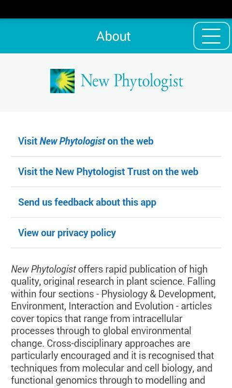New Phytologist- screenshot