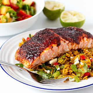 Sugar Spice Salmon with Fancy Rice