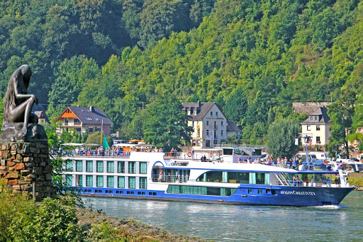 Avalon Creativity sailing the Rhine River in Germany.