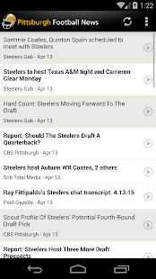 Pittsburgh Football News- screenshot thumbnail