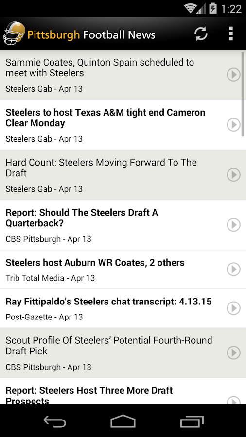 Pittsburgh Football News- screenshot