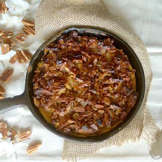 Caramel Sweet Potato Streusel Baked Pancake