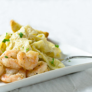 Double-Grandma Approved Shrimp Alfredo