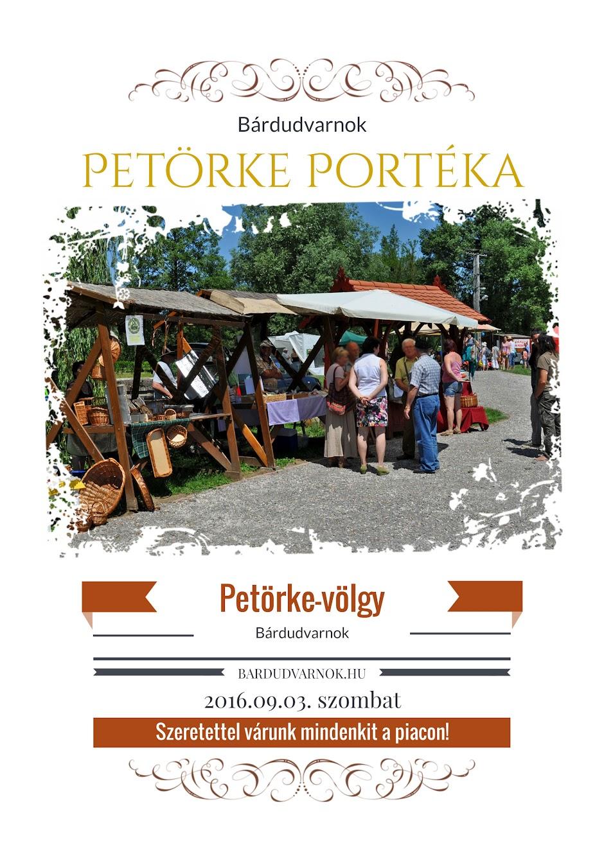 Petörke Portéka helyi piac plakát