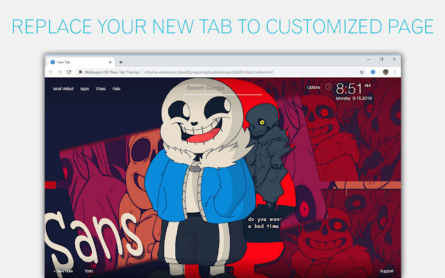 Undertale Sans & Papyrus Custom New Tab