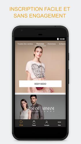 Zalando Privé - Ventes privées Android App Screenshot