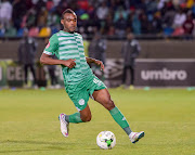 Given Mashikinya of Bloemfontein Celtic in action.